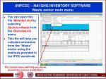 unfccc nai ghg inventory software waste sector main menu