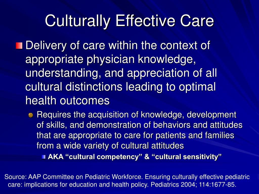 Culturally Effective Care