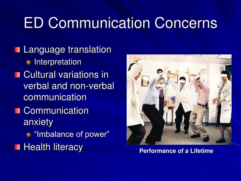 ED Communication Concerns