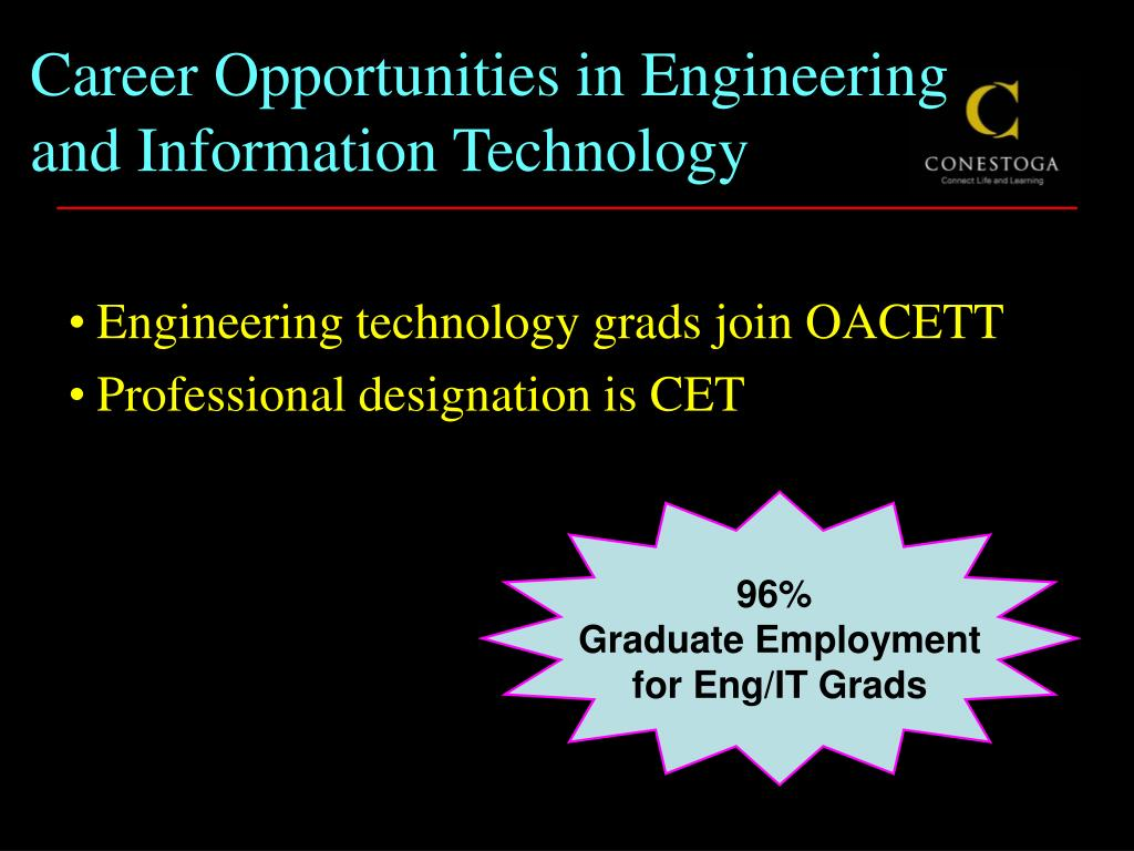 Career Opportunities in Engineering and Information Technology