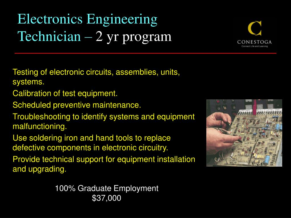Electronics Engineering Technician –