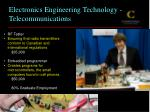 electronics engineering technology telecommunications