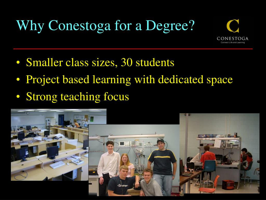 Why Conestoga for a Degree?