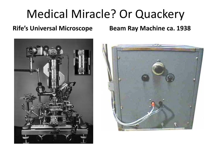 Medical miracle or quackery