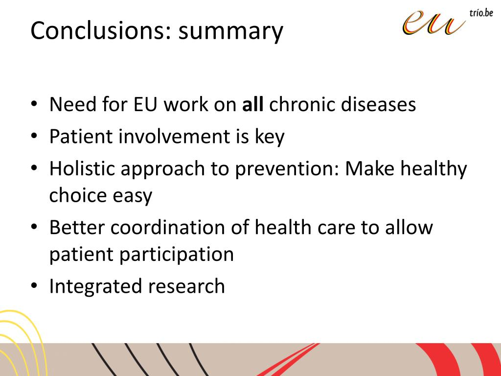 Conclusions: summary