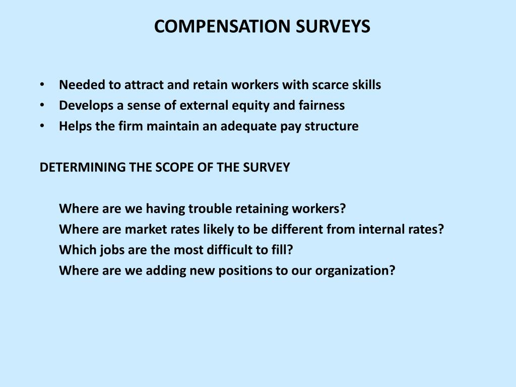 COMPENSATION SURVEYS