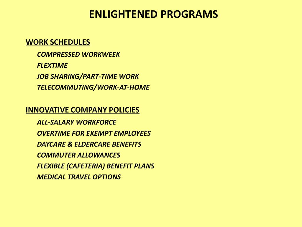 ENLIGHTENED PROGRAMS