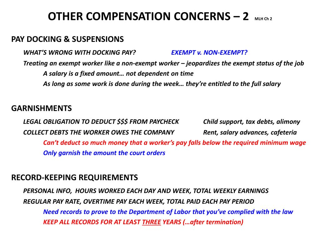 OTHER COMPENSATION CONCERNS – 2