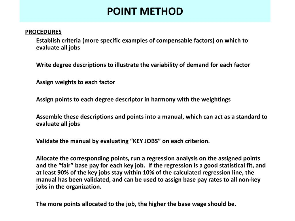 POINT METHOD