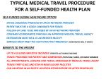 typical medical travel procedure for a self funded health plan