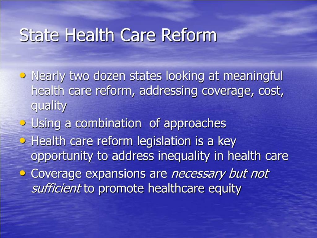State Health Care Reform