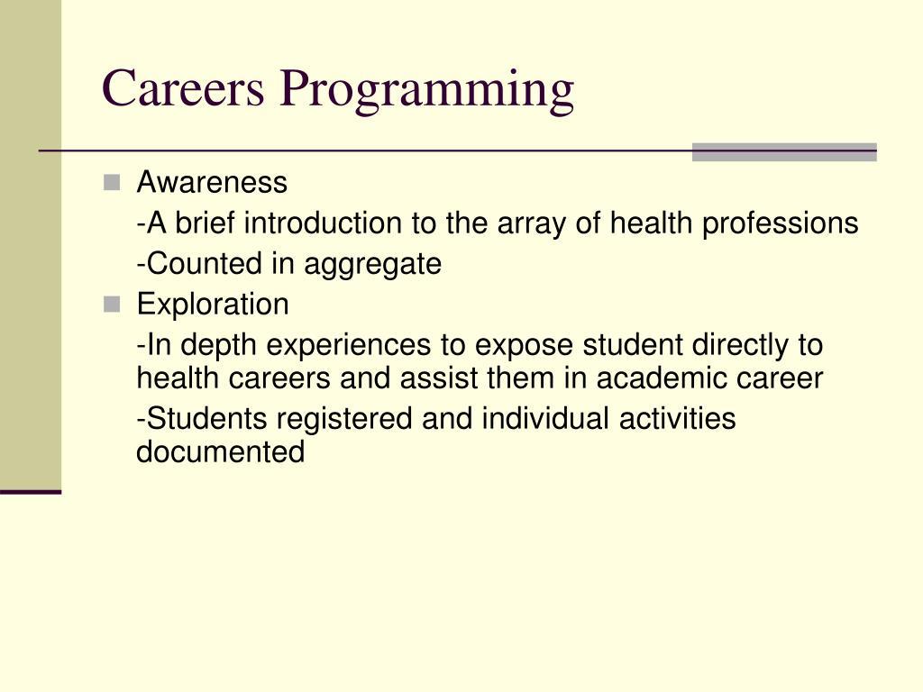 Careers Programming