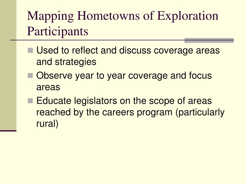 Mapping Hometowns of Exploration Participants