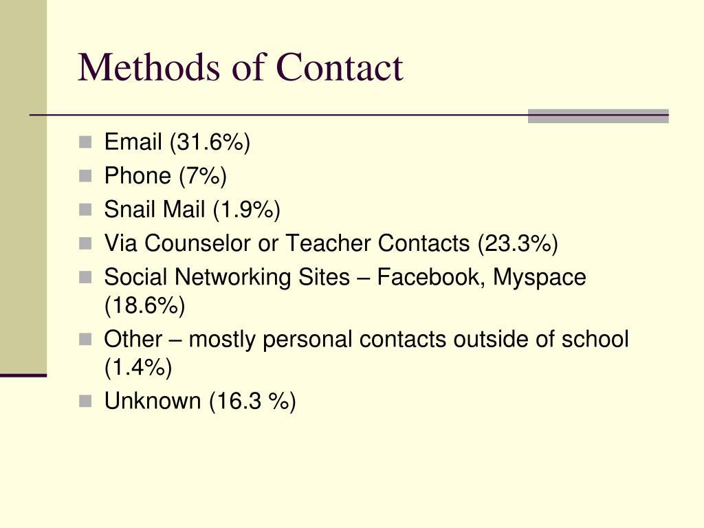 Methods of Contact