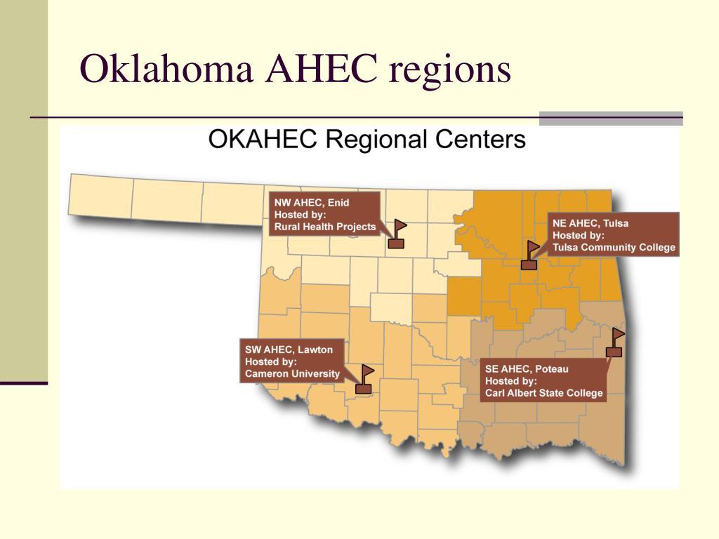 Oklahoma AHEC regions