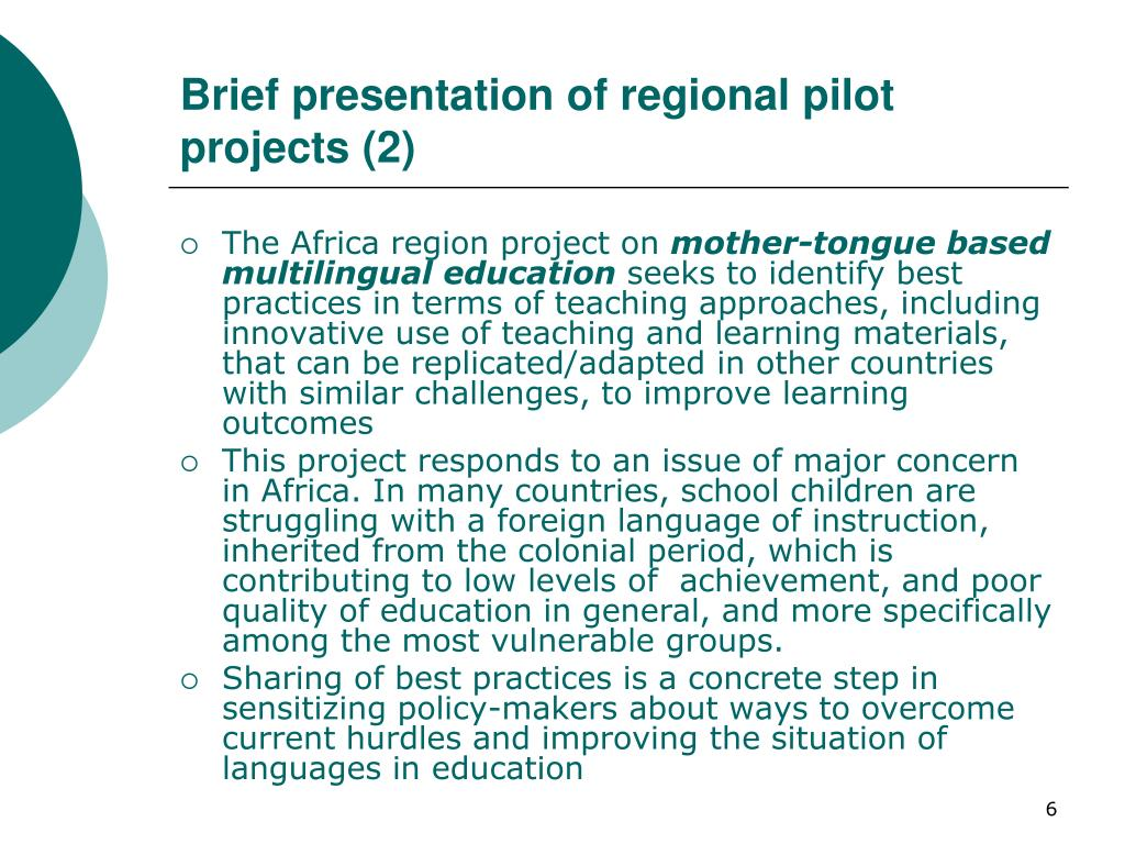 Brief presentation of regional pilot projects (2)