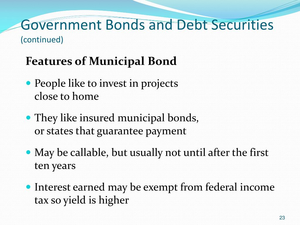 Government Bonds and Debt Securities