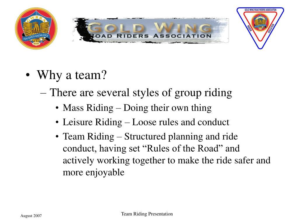 Why a team?