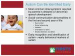 autism can be identified early