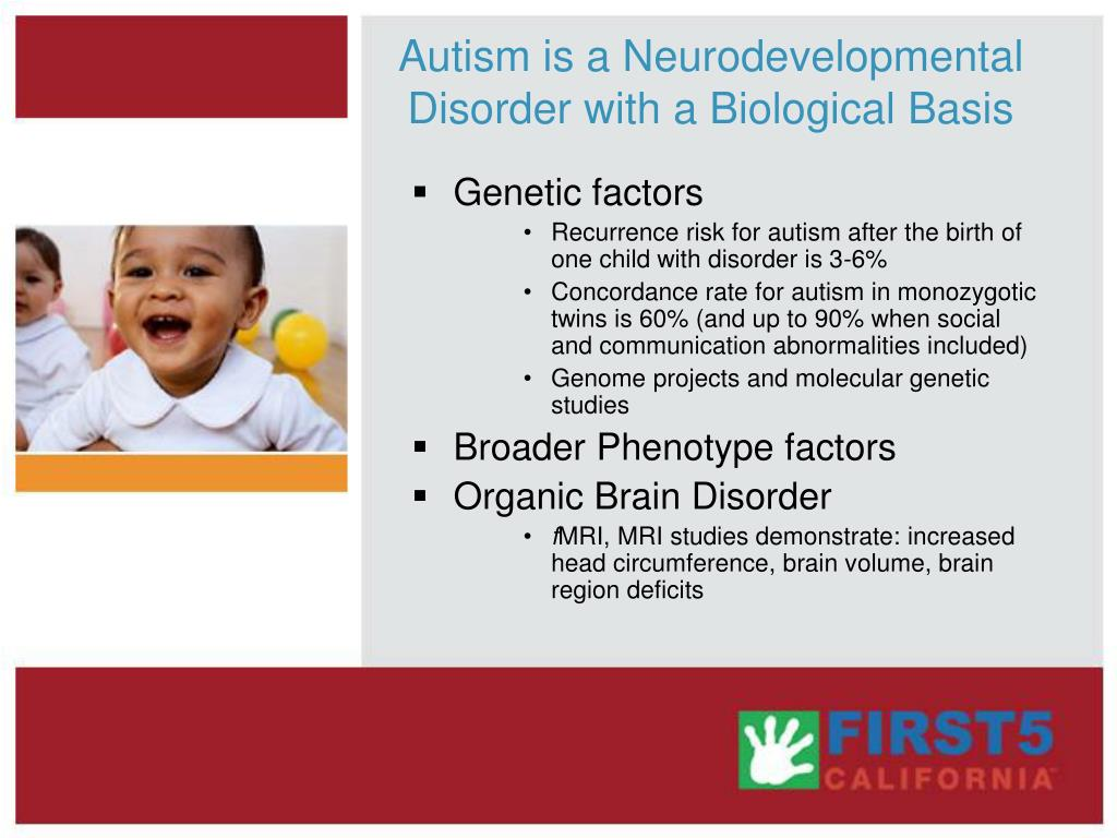 Autism is a Neurodevelopmental Disorder with a Biological Basis