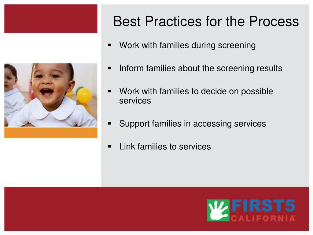 Best Practices for the Process