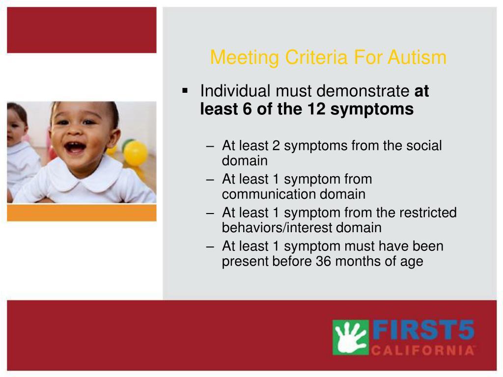 Meeting Criteria For Autism
