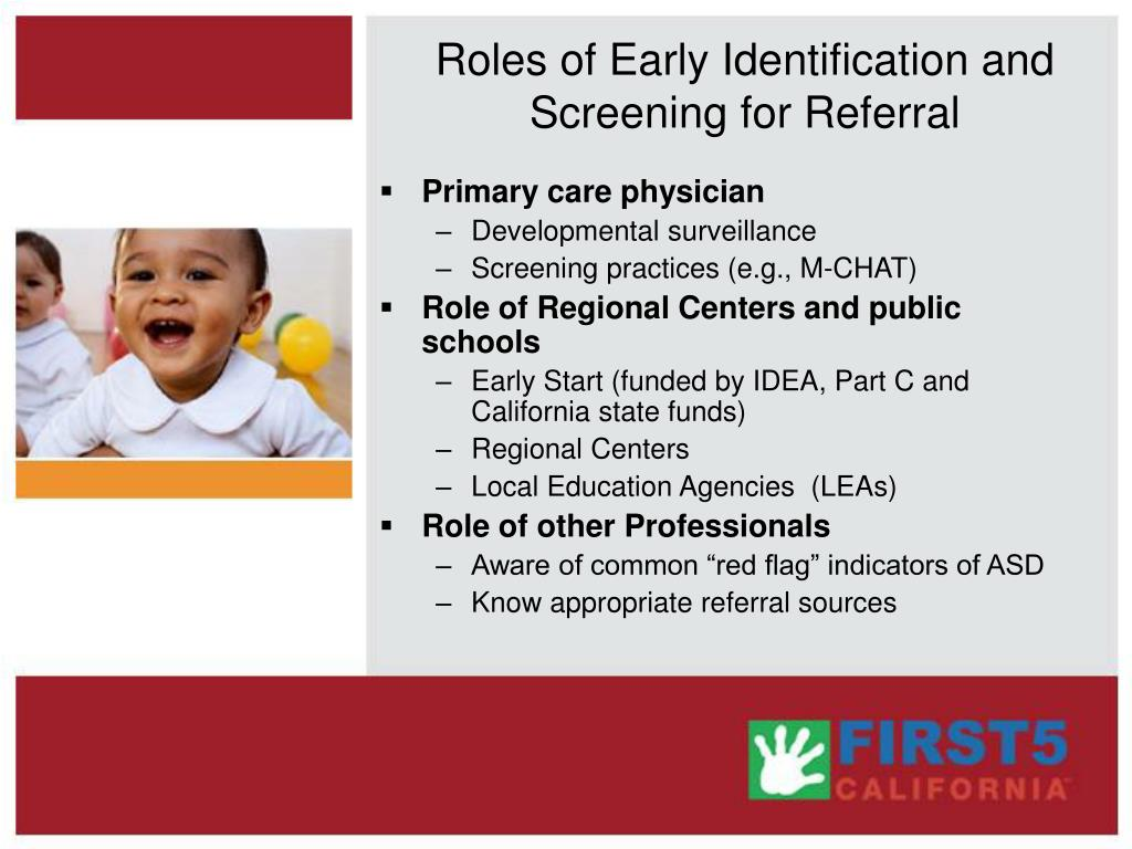 Roles of Early Identification and Screening for Referral