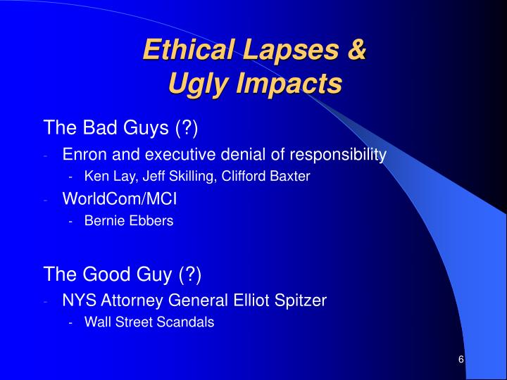 Ethical Lapses &