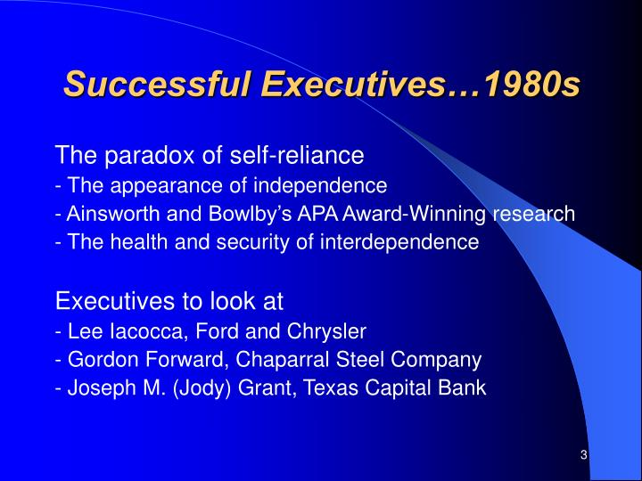 Successful executives 1980s