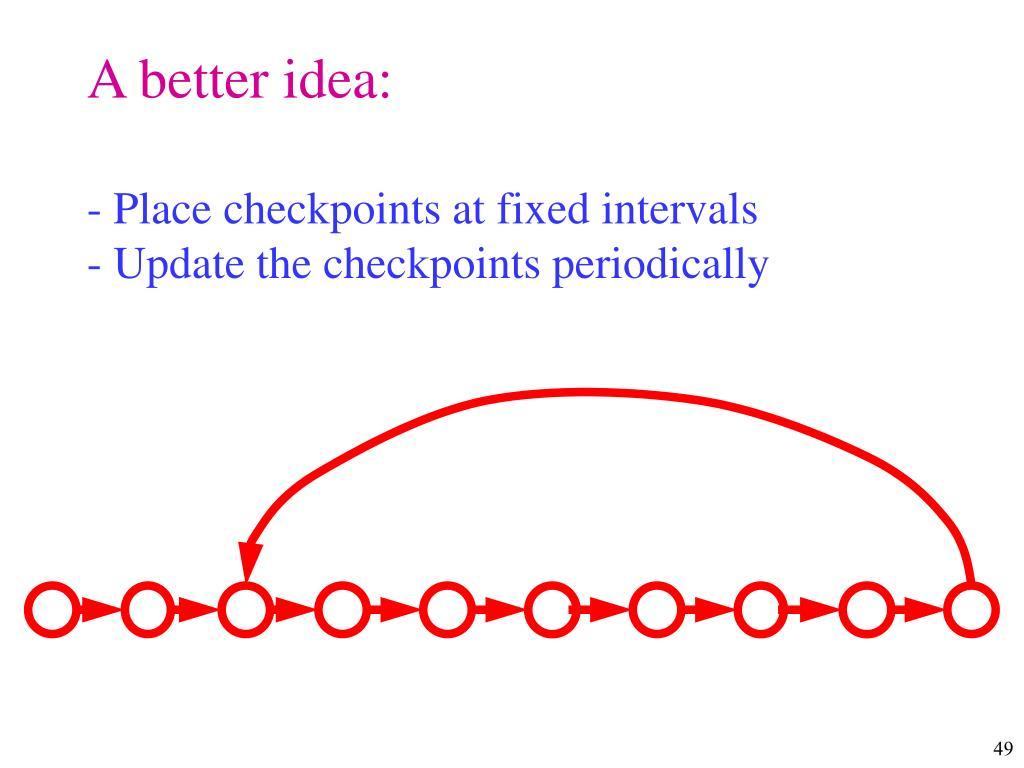 A better idea: