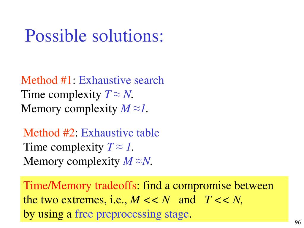 Possible solutions:
