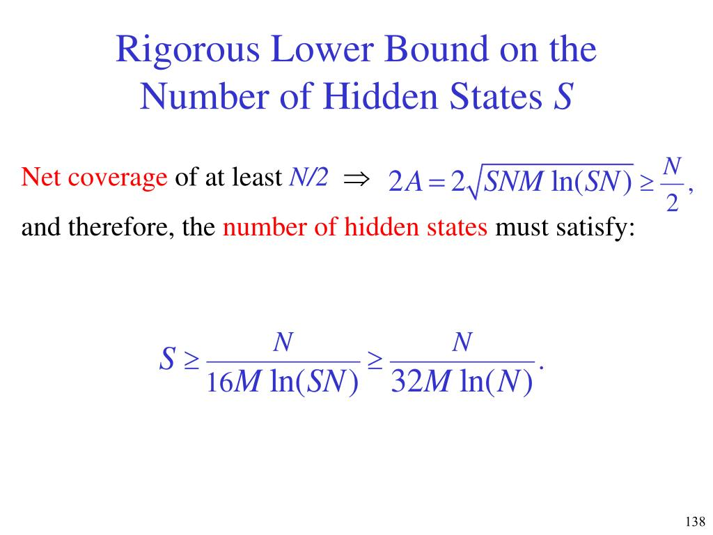 Rigorous Lower Bound on the Number of Hidden States