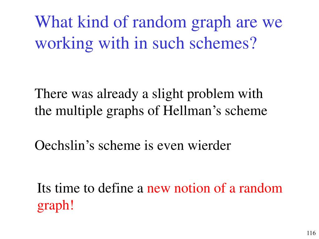 What kind of random graph are we working with in such schemes?