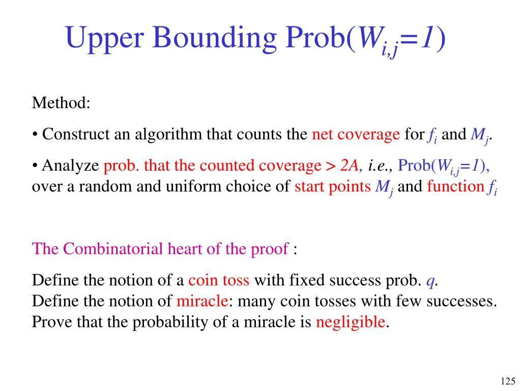 Upper Bounding Prob(