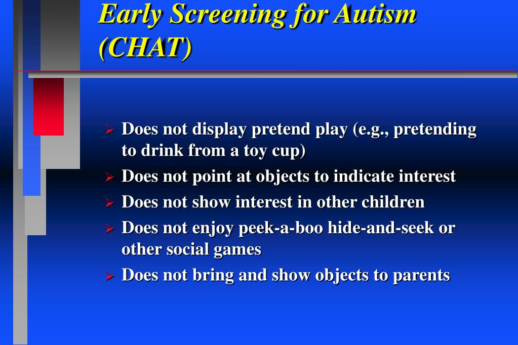 Early Screening for Autism (CHAT)