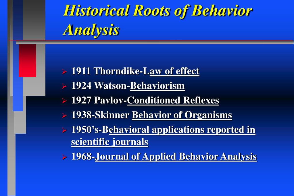 Historical Roots of Behavior Analysis