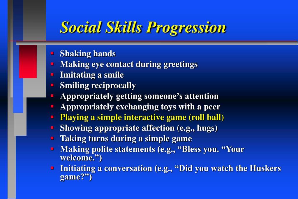 Social Skills Progression