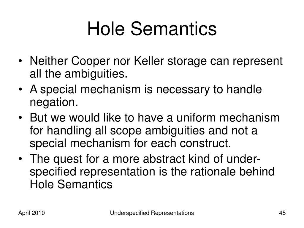 Hole Semantics