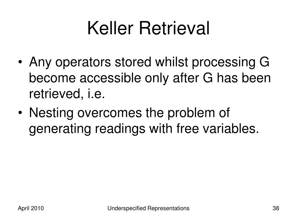 Keller Retrieval