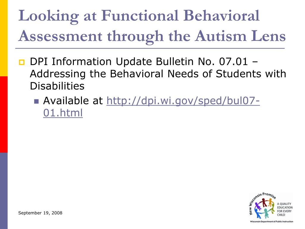 Looking at Functional Behavioral Assessment through the Autism Lens