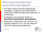 what are positive behavioral interventions and supports