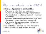 when must schools conduct fba s38