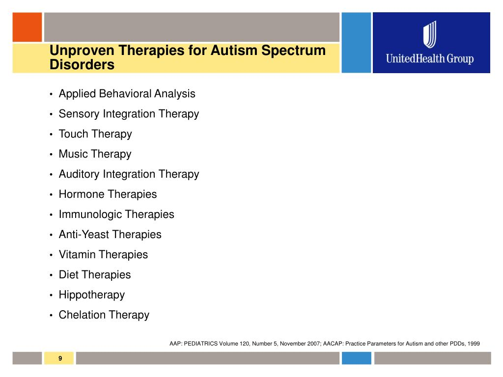 Unproven Therapies for Autism Spectrum Disorders