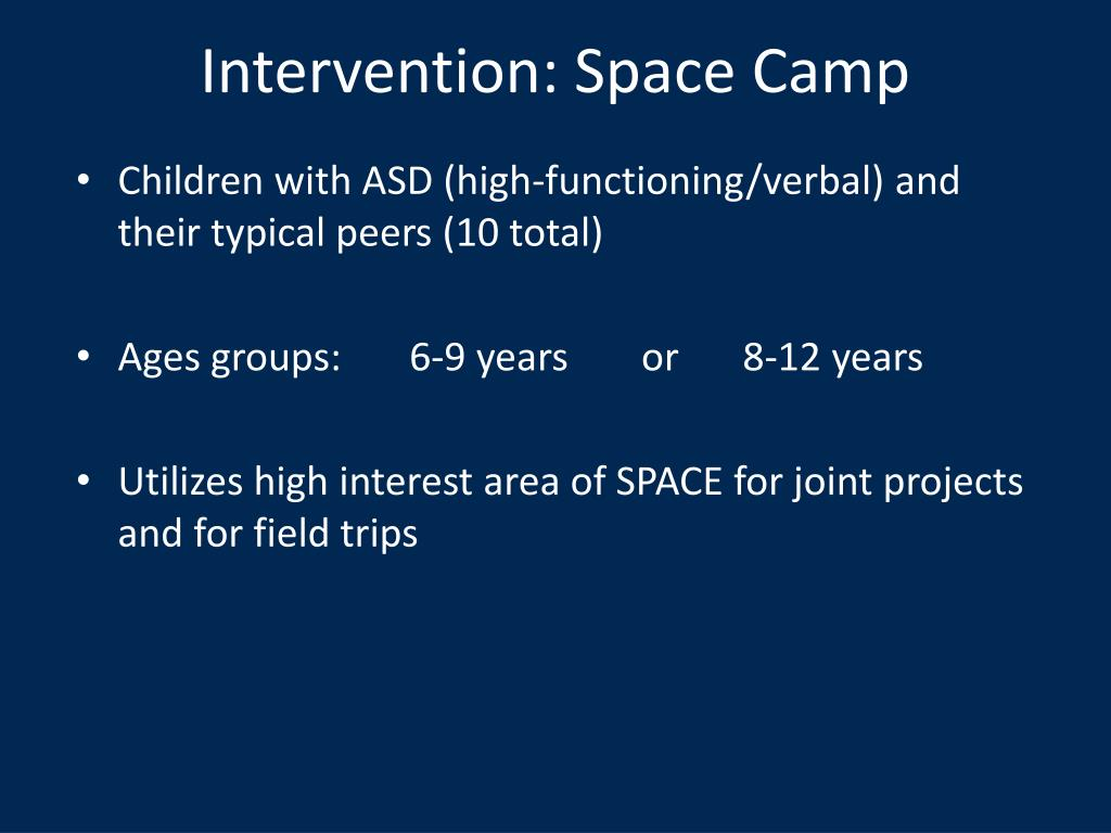 Intervention: Space Camp