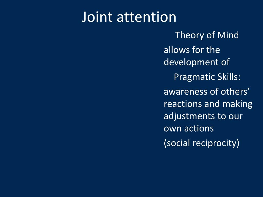 Joint attention