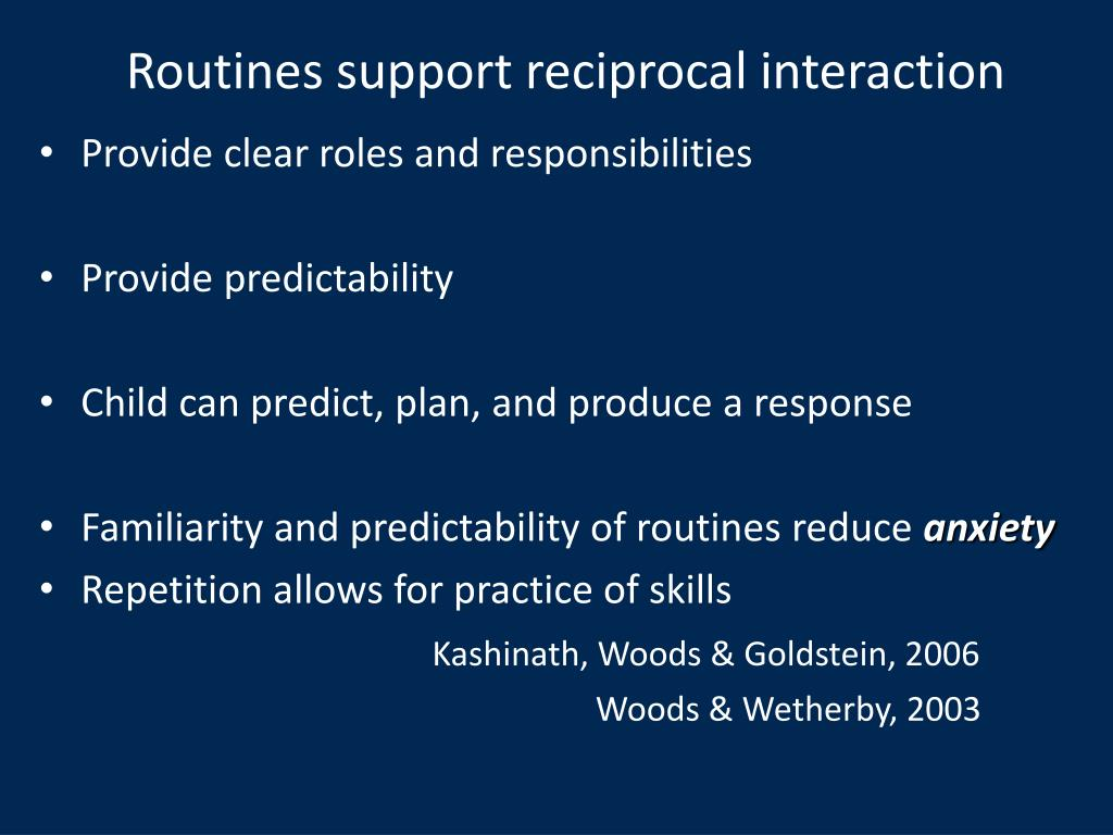 Routines support reciprocal interaction