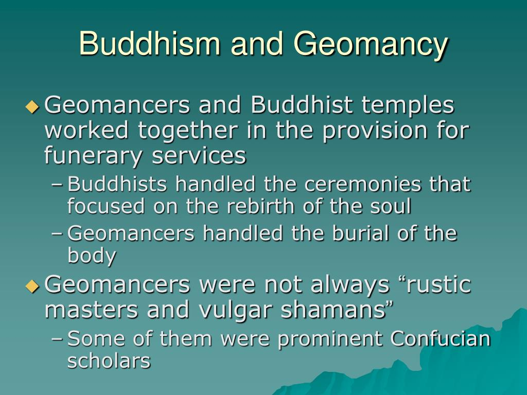 Buddhism and Geomancy