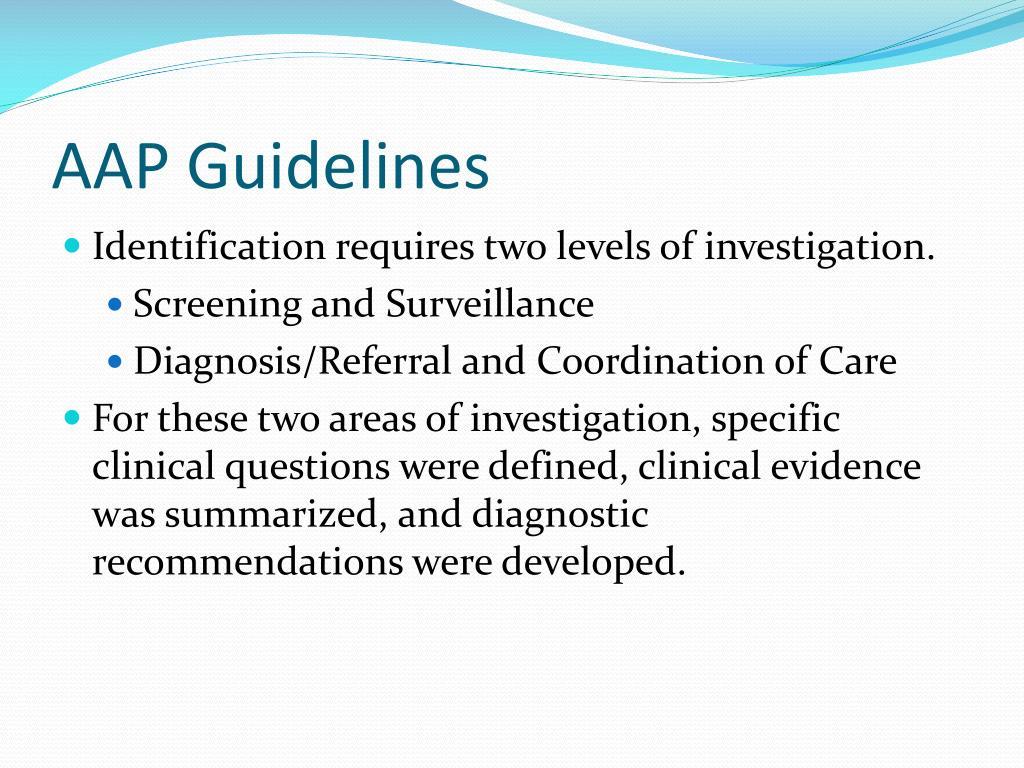 AAP Guidelines