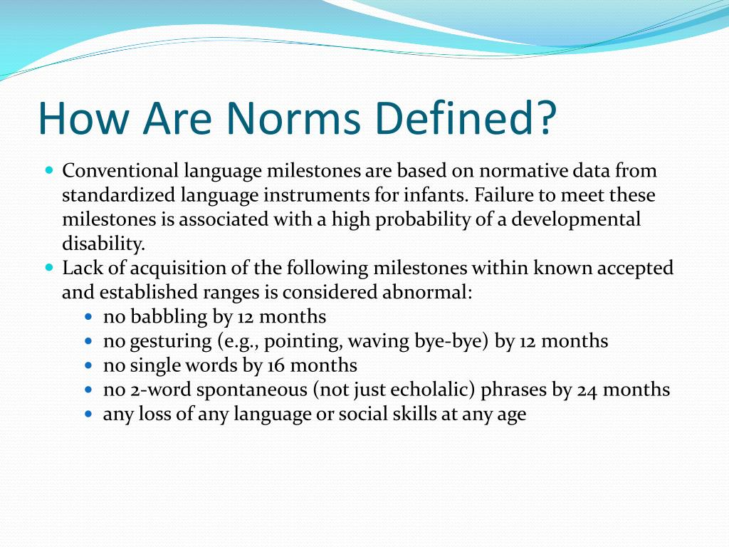 How Are Norms Defined?
