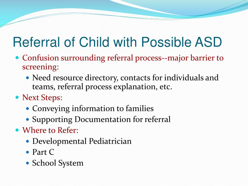 Referral of Child with Possible ASD